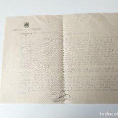 Documentos antiguos: CARTA A MAQUINA ORIGINAL 1955 FIRMADA, SECRETARIO AYUNTAMIENTO MERCADAL, MENORCA. Lote 109538127
