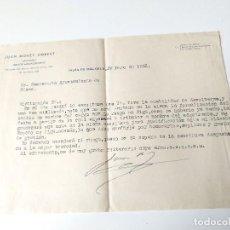 Documentos antiguos: CARTA A MAQUINA ORIGINAL 1953 ESCRITA Y FIRMADA POR JUAN MOREY UMBERT, ABOGADO PALMA. Lote 109538723