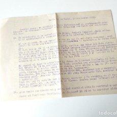 Documentos antiguos: CARTA ESCRITA Y FIRMADA ORIGINAL 1952,. MARIA DE LA SALUD, ASUNTOS RELATIVOS AYUNTAMIENTO SINEU. Lote 109538827