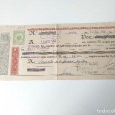 Documentos antiguos: DOCUMENTO DE PAGO BANCARIO ORIGINAL 1953 IMPRENTA DURAN, INCA. Lote 109538943
