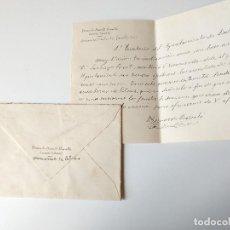 Documentos antiguos: SOBRE CIRCULADO+CARTA A MANO ESCRITA Y FIRMADA POR BERNARDO BARCELO, INGENIERO INDUSTRIAL, 1952. Lote 109538983