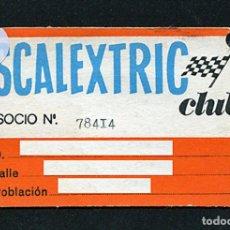 Documentos antiguos: ANTIGUO CARNET CLUB SCALEXTRIC - AÑOS 70. Lote 124449646