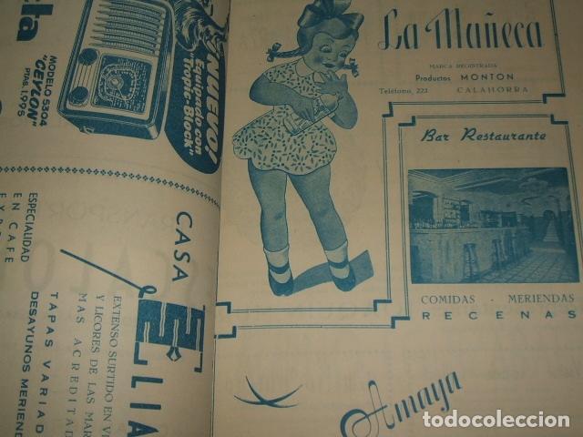 Documentos antiguos: CALAHORRA LA RIOJA PROGRAMA FIESTAS 1952 114 PAGS - Foto 4 - 110314527