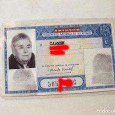 Documentos antiguos: CARNET DE IDENTIDAD DE 1963. Lote 110708923