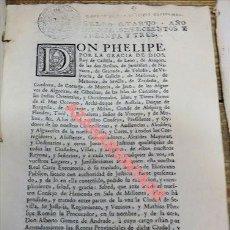 Documentos antiguos: EJECUTORIA GANADA POR LA CIUDAD DE SEVILLA EN 1733, SOBRE MILLONES Y ENTRADAS DE VINOS,40 PAGINAS. Lote 110874543