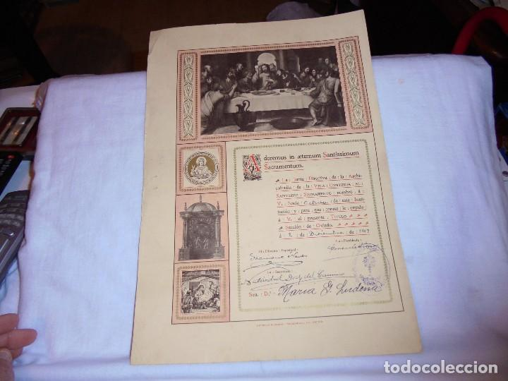 ARCHICOFRADIA DE LA VELA NOMBRAMIENTO DE SOCIA ACTIVA OVIEDO 1909 (Coleccionismo - Documentos - Otros documentos)