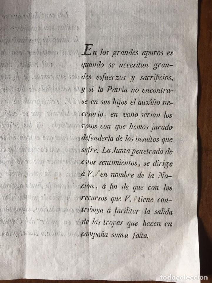 GUERRA DE LA INDEPENDECIA. VALENCIA 1810 (Coleccionismo - Documentos - Otros documentos)