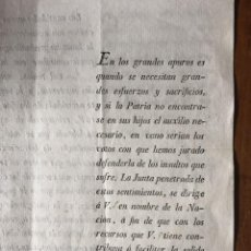 Documentos antiguos: GUERRA DE LA INDEPENDECIA. VALENCIA 1810. Lote 111301195