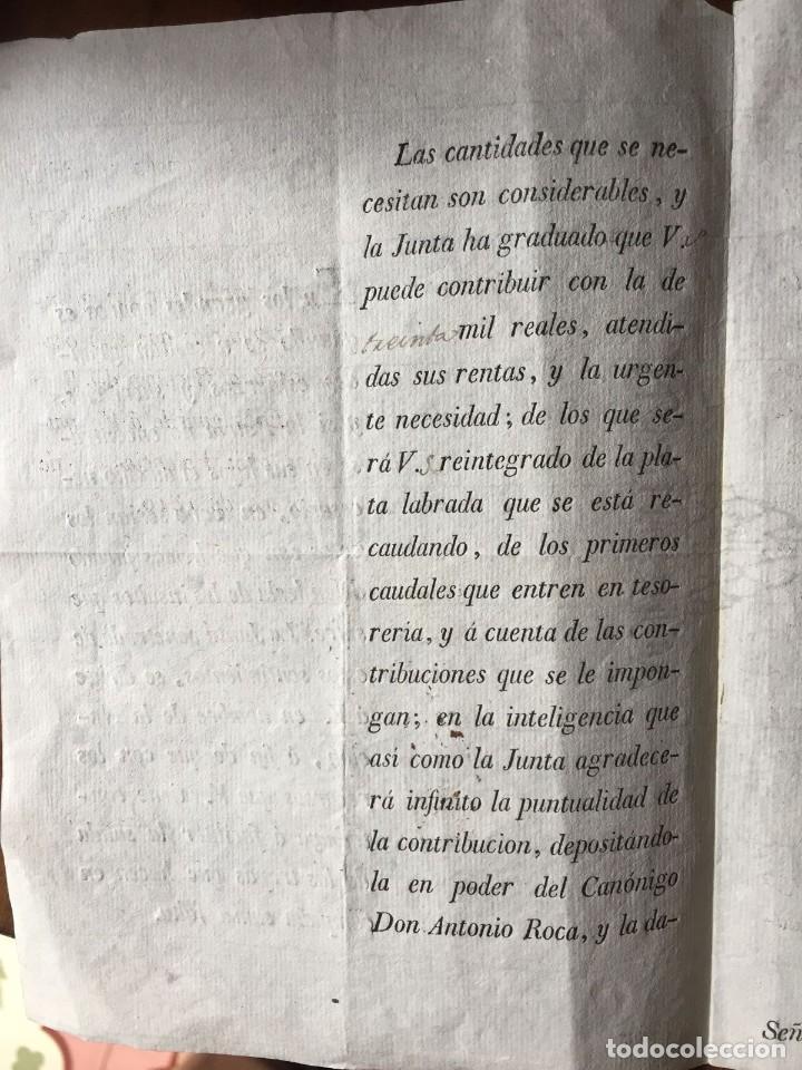 Documentos antiguos: Guerra de la Independecia. Valencia 1810 - Foto 2 - 111301195