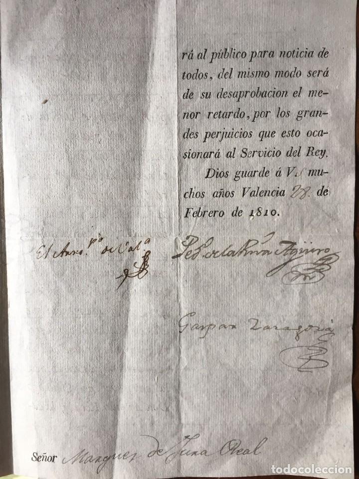 Documentos antiguos: Guerra de la Independecia. Valencia 1810 - Foto 3 - 111301195
