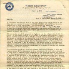 Documentos antiguos: 1950, USA CARTA A LA ADMINISTRACIÓN DE VETERANOS. Lote 111378315