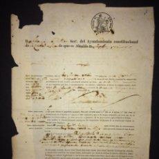 Documentos antiguos: CUBA CANARIAS PASAPORTE AÑO 1862 - TELDE - EPOCA ISABEL II. Lote 171367165