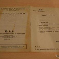 Documentos antiguos: DOCUMENTO INFORMATIVO CEDULA EMPRESA INTERCONTINENTAL DE INMUEBLES. Lote 111399459