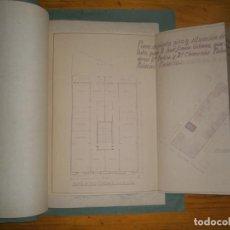 Documentos antiguos: PLANOS Y DOCUMENTOS MUY ANTIGUOS. Lote 111504503