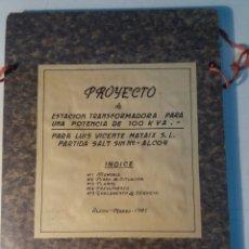 Documentos antiguos: CARPETA CON PLANOS LUÍS VICENTE MATAIX. ALCOY ALICANTE.. Lote 111505866