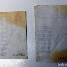 Documentos antiguos: TICKETS DE COMPRA - TICKET ANTIGUO SUPERMERCADO FAU ZARAGOZA - LOTE DE DOS TICKETS. Lote 111729367