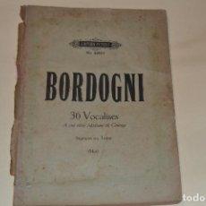 Documentos antiguos: PARTITURA DE MARCO BORDOGNI-36 VOCALISTES. Lote 111741579