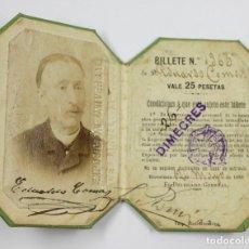 Documentos antiguos: CARNET DE LA EXPOSICIÓN UNIVERSAL 1888 BARCELONA. TAMAÑO: 7X5,5 CM. CERRADO. Lote 111891647