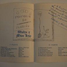 Documentos antiguos: PROGRAMA DIPTICO ORIGINAL 1954 PEÑA TRUC MERCANTIL INCA. SHALYS Y MISS LYIP, ILUSIONISMO, FIRMADO. Lote 111902207