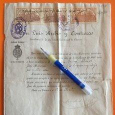 Documentos antiguos: ESPARRALEJO- CACERES- TITULO NOMBRAMIENTO JUEZ MUNICIPAL- 1.907. Lote 111978907