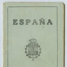 Documentos antiguos: ALTEA 1923 PASAPORTE MARINERO EPOCA ALFONSO XIII PERFECTO ESTADO - TAL FOTOS. Lote 112237455