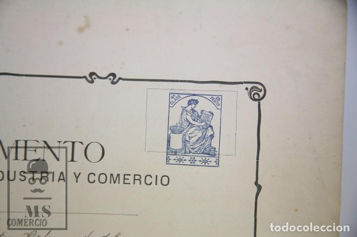 Documentos antiguos: Documentos de Patente de Invención y Certificado-Título - Envoltorio de Dulces - Barcelona, Año 1909 - Foto 5 - 112316627