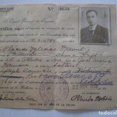 Documentos antiguos: 1938 CONSULADO ESPAÑA EN CUBA / CERTIFICADO NACIONALIDAD / P. IGLESIAS RAMIL / LUGO GALICIA INDIANO. Lote 112601679