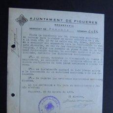 Documentos antiguos: PERMISO PARA INSTALAR MOTOR ELECTRICO EN FABRICA DE PAN / ALCALDIA FIGUERES AÑO 1935 / GIRONA. Lote 112726799
