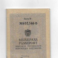 Documentos antiguos: PASAPORTE DE AUSTRIA 1955, PASSPORT, PASSEPORT, REISEPASS. Lote 112762927