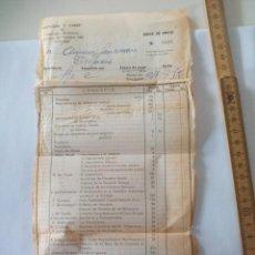 Antigua factura de compra de libros editorial y librería del Seminario Diocesano Vitoria creo 1959