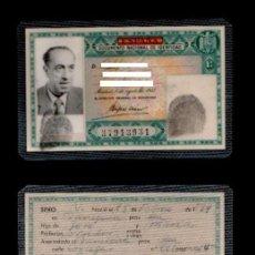 Documentos antiguos: DNI - ANONIMO VERDE 37.913.931 C10-2 - CARNET DE IDENTIDAD EXPEDIDO EN BARCELONA EL 22 DE NOVIEMBRE. Lote 113206311
