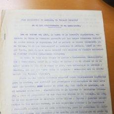 Documentos antiguos: JUAN CRISÓSTOMO ARRIAGA, BILBAO APOLOGIA INÉDITA ESCRITA POR FRANCISCO DE LUGAR Y PIEDRA. 7 PÁGINAS. Lote 113214334