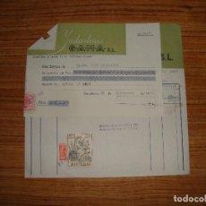 Documentos antiguos: (ALB-TC-14) FACTURA Y RECIBO INDUSTRIAS GAMA BARCELONA 1952. Lote 113219095