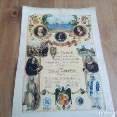 Documentos antiguos: PARTIDA DE NACIMIENTO CON YUGOS DE LA FALANGE . Lote 113442059