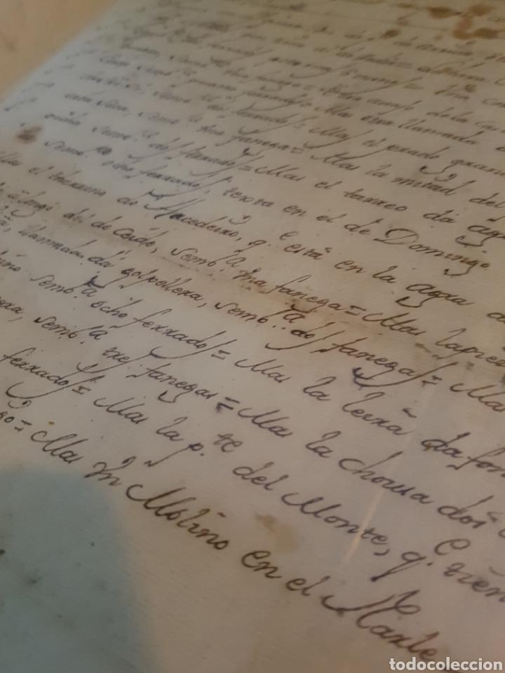Documentos antiguos: S.XVII, DOCUMENTO GRAN HERENCIA, PEDRO DE VILLARELLE. GALICIA - Foto 2 - 113532964