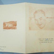 Documentos antiguos: ESQUELA ORIGINAL JOSEP PLA I CASADEVALL 8/3/1897 23 D'ABRIL 1981 (32X23CM ABIERTA). Lote 113534694