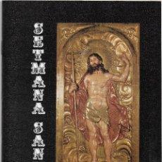 Documentos antiguos: REUS PROGRAMA SEMANA SANTA 1974. Lote 113608975