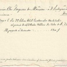 Documentos antiguos: NOTA PAGO A CUENTA, AÑO 1817, TINTE AÑIL DE GUATEMALA, DROGUERO DE MANRESA. Lote 113630391