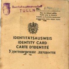 Documentos antiguos: PASAPORTE SALVOCONDUCTO DE AUSTRIA 1954 PASSPORT-ID, PASSEPORT AUTRICHIENNE, REISEPASS. Lote 112344899