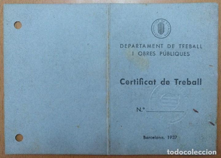 Documentos antiguos: CERTIFICAT DE TREBALL GALETES IDEAL SOCIETAT COOPERATIVA PRODUCCIO MONTGAT 1938 GUERRA CIVIL FOTO - Foto 2 - 113678743