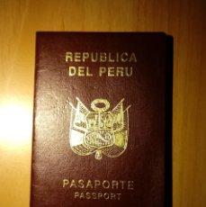 Documentos antiguos: PASAPORTE DE PERU 2000, PASSPORT, PASSEPORT, REISEPASS. Lote 112764407