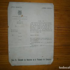 Documentos antiguos: DOCUMENTO DE 1939. Lote 113696711