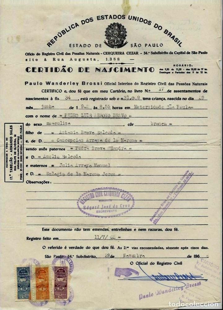 documento- certificado de nacimiento de la repu - Comprar en ...