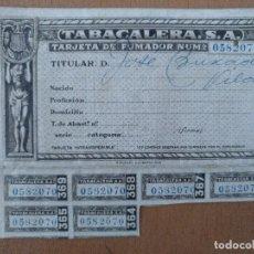 Documentos antiguos: CARTILLA RACIONAMIENTO TABACALERA S.A. BARCELONA 12 X 9 CM (APROX). Lote 113818575