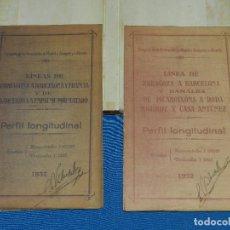 Documentos antiguos: (M2.5) COMPAÑIA DE LOS FERROCARRILES DE MADRID A ZARAGOZA Y A ALICANTE , PERFIL LONGITUDINAL 1932. Lote 113839523