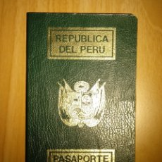 Documentos antiguos: PASAPORTE DE PERU 1990. Lote 46216262