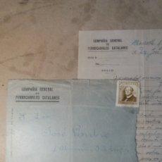 Documentos antiguos: COMPAÑIA GENERAL DE FERROCARRILES CATALANES.1948. Lote 114014986