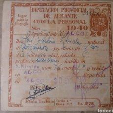 Documentos antiguos: ALCOY 1940. Lote 114015562
