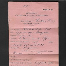 Documentos antiguos: PASAPORTE SALVOCONDUCTO 1942 REFUGIADO ESPAÑOL, GUERRA CIVIL , PASSPORT, PASSEPORT, REISEPASS. Lote 114225655