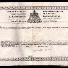 Documentos antiguos: L23-7 MUY INTERESANTE DOCUMENTO DEL AÑO 1863 VER TRADUCCION. Lote 114309723